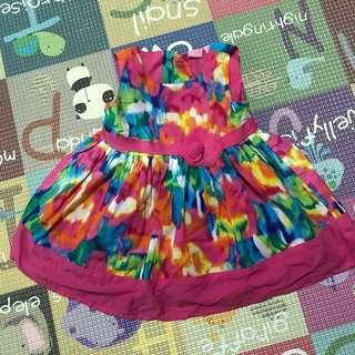 Authentic Place Baby Dress in Rainbow colours (9-12 months old)