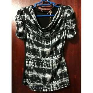So En blouse black printed