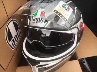 AGV Helmet full face fullface brand new AGV K-3 K3 SV PROTON BLACK SILVER. Size L.