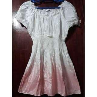 Sakaya dress pink and white