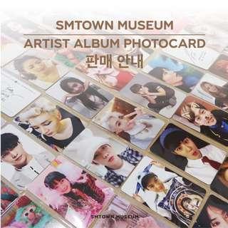 (PRE-ORDER) SMTOWN Artist Museum Photocards EXO NCT SNSD SUJU SHINEE FX RED VELVET