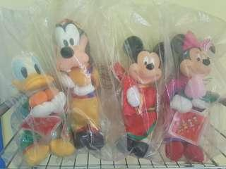 Mickey Mouse, Minnie Mouse, Donald Duck and Goofy: McDonald's Chinese New Year Stuffed Toys