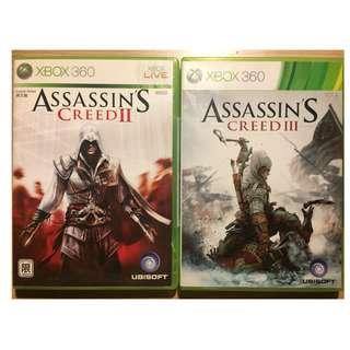 Xbox Assassin creed II & III