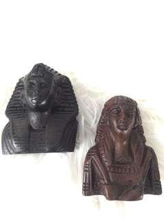 Pharoah heads souvenir (wood)