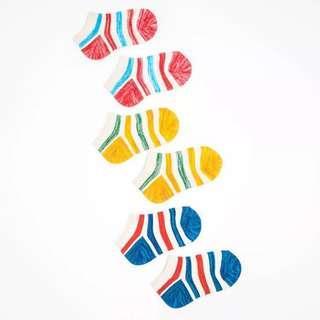 🚚 [Ready Stock] Multi Coloured Baby Toddler Kids Socks - 1 pair