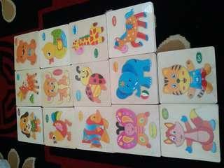 Mainan Puzzle Kayu Edukasi Anak