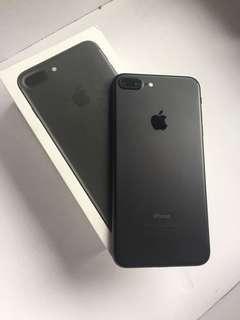 Iphone 7 plus blackmatte 32gb fullset mulus
