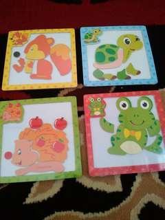 Mainan Puzzle Magnet Edukasi Anak