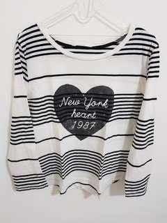 Mango Striped Printed T-Shirt