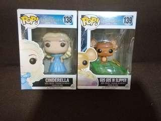 Funko Pop Cinderella and Gus Gus in Slippers (SET)