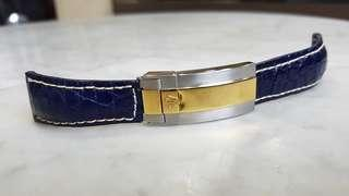 Generic 'Rolex' clasp with leather strap