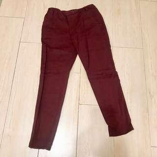 Zara Trousers (deep red ) 90%new