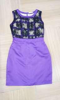 Light purple dinner dress