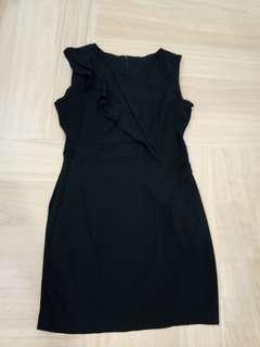Office wear black dress
