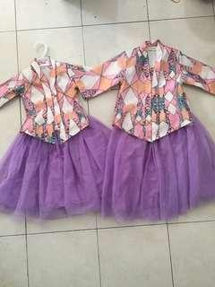 Jazz couture Girls kebaya with tutu skirt