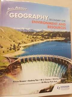 *Like New!* All About Geography Sec 1 (Hoder Education)