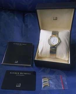 Rare Full Box Set Alfred Dunhill 2 Tone Quartz Watch Boys Size