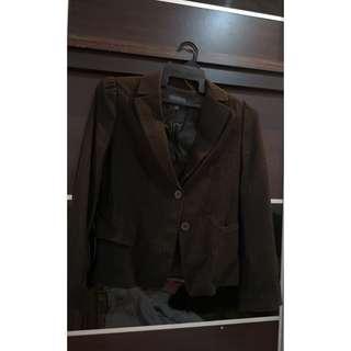 Preloved G2000 jacket or blazer dark brown striped