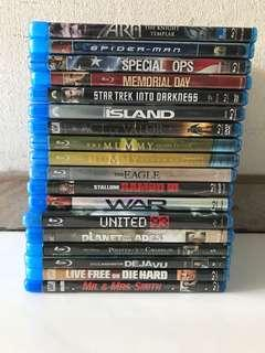 Collection Of Preowned Blu Ray Movies / Dramas / Concerts Discs