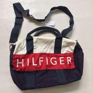 TOMMY HILFIGER duffle bag merah biru