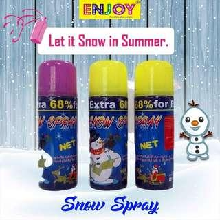 Snow party spray
