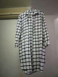 🚚 長版格子襯衫