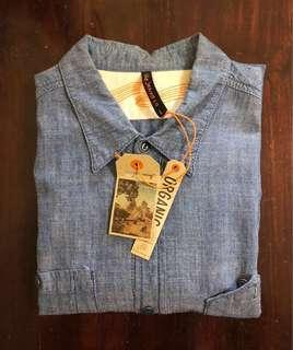 SALE! Nudie Chambray Indigo Organic Dry size L (Authentic)