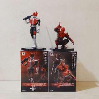 """Kamen Masked Rider 6"""" DXF Dual Solid Heroes Den-O & Momotaro (set of 2)"""