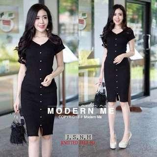 Knitted Button Down Dress