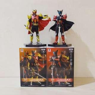 "Kamen Masked Rider 6"" DXF Dual Solid Heroes Kiva Emperor Form & Dark Kiva (set of 2)"