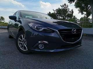 Mazda 3  for rental, Weekly from $420 for private hire .Contact us at 88115335/90998833