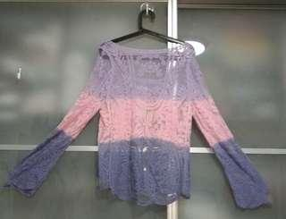 2 x brand new and unused ombre top with free delivery