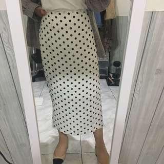 年底特優🔥超仙pazzo 白色點點雪紡裙