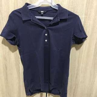 Uniqlo half button shirt