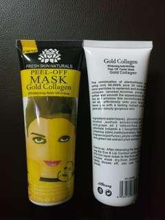 Peel off mask gold collagen