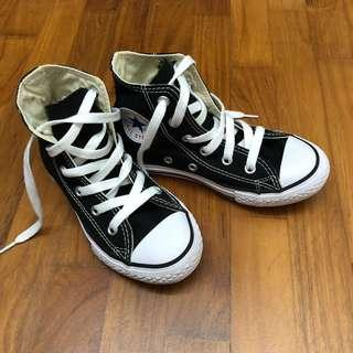 Converse All Star Chuck Taylor High Cut Kids Shoes Sneakers Black