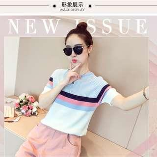 *IN STOCK* New Korean Women Casual Knit TOP (Blue) *PREMIUM QUALITY*