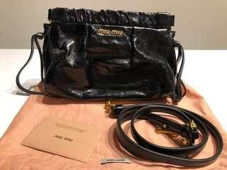 Miu Miu Vitello Lux Crossbody Sling bag with authenticity card