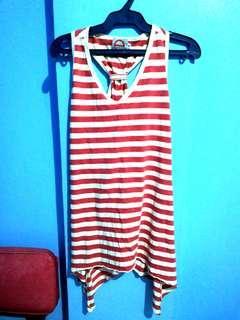 Red & White Stripes Halter