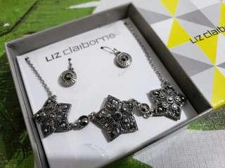 Matching necklace and earrings