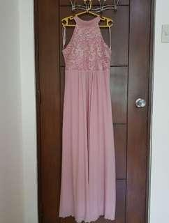 Pink Formal Dress / Long Gown