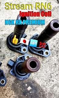 Stream RN6 ( ignition coil + NGK RX PREMIUM Spark plug )