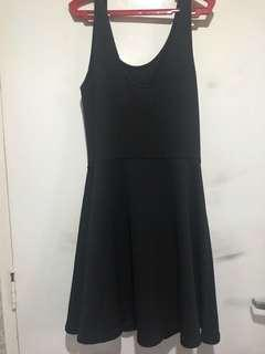 Divided Black Stretch Dress