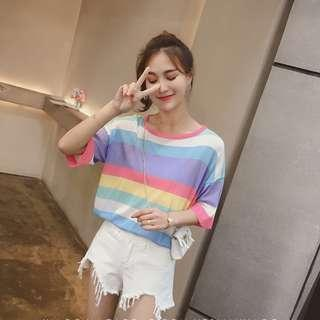 *IN STOCK* New Korean Woman Fashion Summer Casual TOP (Pink)