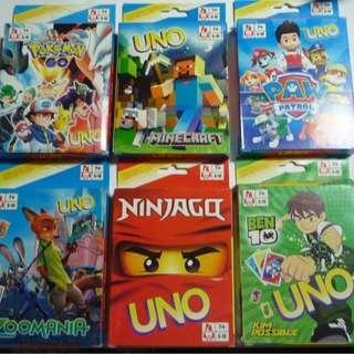 UNO cards Pokemon Go Minecraft Zoomania Ninjago Ben 10