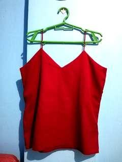Red Strap Sleeveless