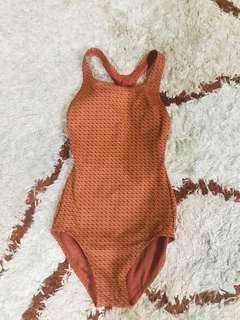 Bikini one piece warna coklat pattern