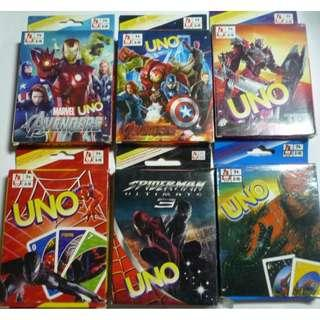 UNO cards Avengers Age of Ultron Transformers Spiderman 3