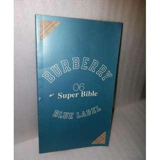 Blue Label Burberry Bible catalogue collection catalog RARE