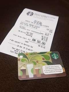 RM50 Mini Starbucks Card